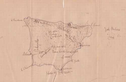 Cartina Spagna Isole Baleari.Spagna Portogallo Isole Baleari Gibilterra Antica Mappa