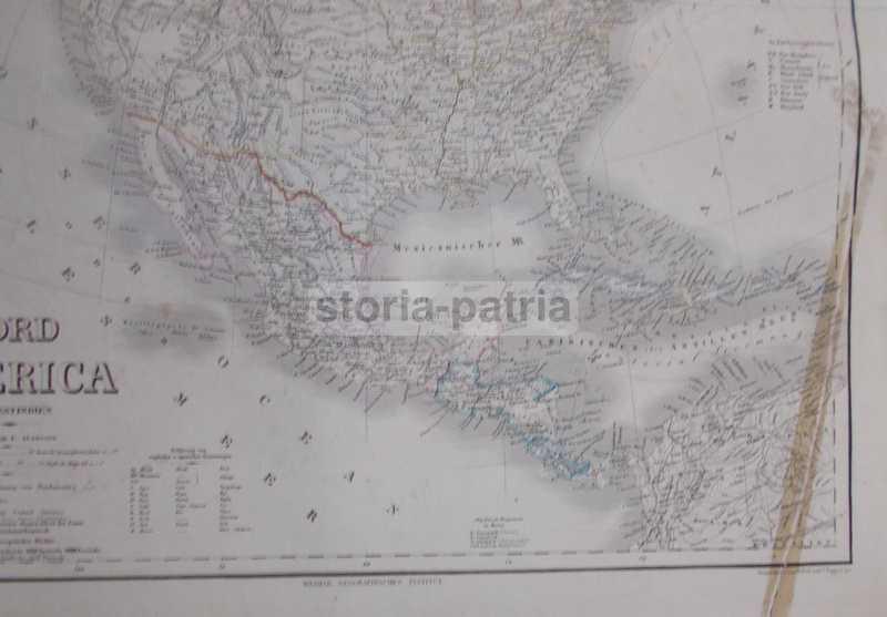 Cartina Geografica Haiti.America California Florida Messico Haiti Venezuela Honduras Grande Mappa Antica