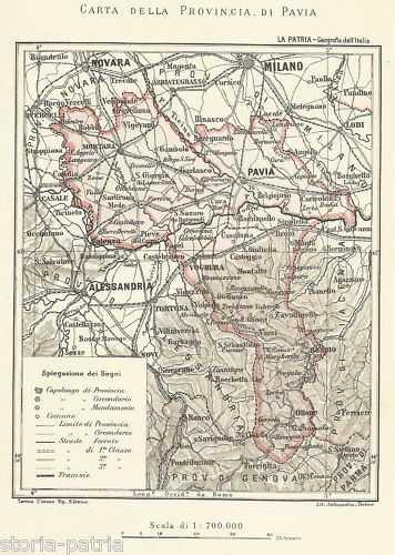Cartina Geografica Della Provincia Di Mantova.Pavia Novara Alessandria Voghera Mortara Lodi Mappa 800