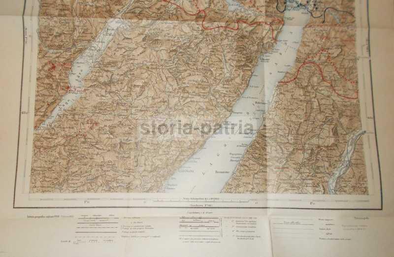 Cartina Topografica Lago Di Garda.Brescia Gargnano Antica Mappa Topografica Lago Di Garda Viabilita Condino Idro
